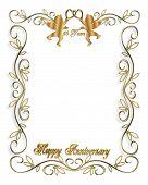 50Th Anniversary Cupids Invitation
