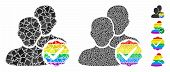 For Gays Only Mosaic Of Inequal Items In Various Sizes And Color Tones, Based On For Gays Only Icon. poster
