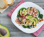 Avocado And Jamon Salad