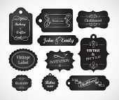 stock photo of dinner invitation  - Chalkboard hand writed vintage invitation - JPG