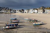 picture of st ives  - st ives harbor in south west cornwall england UK - JPG