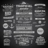 stock photo of beach holiday  - Retro elements for Summer calligraphic designs  - JPG