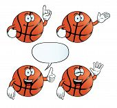 Smiling basketball set