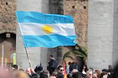Flag Of Argentina In St. Peter Square