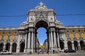 Portugal, The Praca Do Comercio In Lisbon