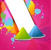 holi festival gulal colors vector background