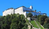 SALZBURG, AUSTRIA - SEPTEMBER 2012: Festung Hohensalzburg circa September 2012 in Salzburg, Austria.