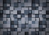 stock photo of cube  - Abstract background of blue - JPG