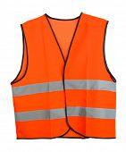Orange vest, isolated on black