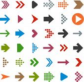 Vector illustration of plain arrow icons. Eps10.