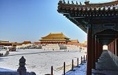 Scenery Of Forbidden City In Winter