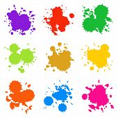 Set Of Colorful Abstract Drops