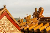 The Traditional Eaves Of Ancient Building In China