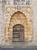 Church Door Near Beirut Lebanon