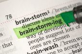 Brand definition highlighted in green in the dictionary poster