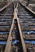 verrostete Eisenbahn in außen