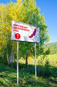 Warning Board Baikal Natural Area