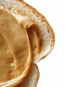 Peanut Butter On Bread Isolated