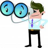 Business Buddy with his huge binoculars