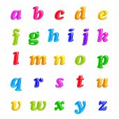 3D Font creative.ABC collection.Isolated. Alphabet type letters with numbers and symbols. High Quali