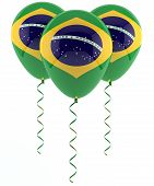 Brazilian Flag Balloon