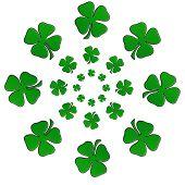 Irish Shamrock In A Circular Shape