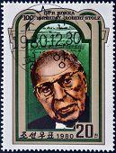 NORTH KOREA - CIRCA 1980: A stamp printed in DPR Korea shows Robert Stolz circa 1980