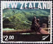 NEW ZEALAND - CIRCA 2001: A stamp printed in New Zeland shows Tramping Fiordland National Park
