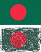 Bangladeshi grunge flag. Vector illustration.