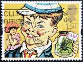 UNITED KINGDOM - CIRCA 1993: A stamp printed in Great Britain shows William Brown (William books)