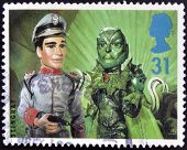 stamp printed in Great Britain dedicated to Big Stars from the Small Screen - Children's TV Characte