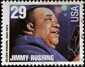 UNITED STATES OF AMERICA - CIRCA 1994: stamp printed in USA shows blues singer Jimmy Rushing