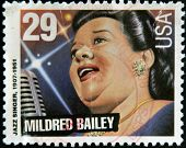 UNITED STATES OF AMERICA - CIRCA 1994: stamp printed in USA shows jazz singer Mildred Bailey