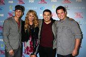 LOS ANGELES - NOV 4:  Carlito Olivero, Paulina Rubio, Carlos Guevara, Tim Olstad at the 2013