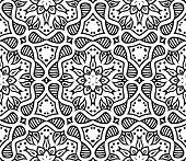 graphic moroccan ornament in vector