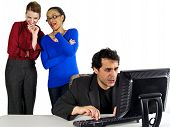 pic of indecent  - business people in office situations - JPG