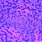 Purple Abstract Image Of Cubes Background