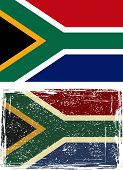 South African Republic grunge flag. Vector illustration.
