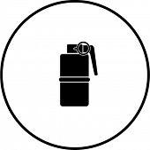 stock photo of grenades  - hand grenade explosive symbol - JPG