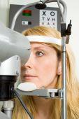 Young Woman Having Eye Test