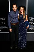 NEW YORK-OCT 1: Musician Albert Hammond Jr. and Justyna Sroka (R) attend the 'Gravity' premiere at AMC Lincoln Square Theater on October 1, 2013 in New York City.