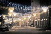 City Decorated By Christmas Illumination, Rzeszow, Poland