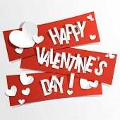 stock photo of valentine card  - A Happy Valentines Day card vector illustration - JPG