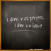 picture of uniqueness  - Vector Illustration Of A Quote I Am Not Perfect - JPG