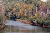 Hiwassee River In Autumn