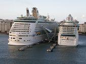 Royal Caribbean's Explorer of the Seas & Jewel of the Seas in San Juan