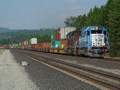 Westbound EMD 9099
