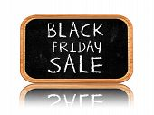 Black Friday Sale On Blackboard Banner