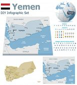 Yemen maps with markers