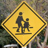 Traffic Sign School Warning Sign